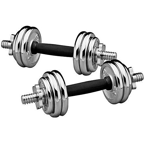 15kg Adjustable Chrome Dumbbells