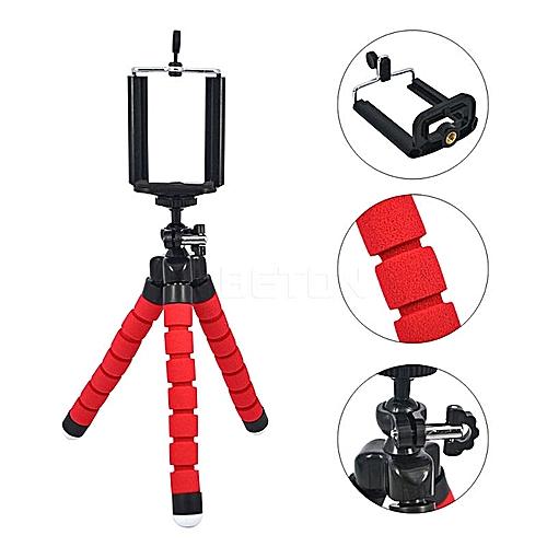 Mini Tripod Digital Camera Mobile Phone Stand Flexible Grip Octopus Bubble Monopod Flexible Leg Small Camera Holder Stand(red)