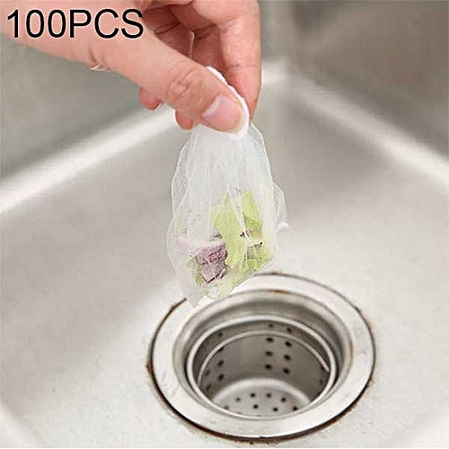 100 PCS Filter Bag For Kitchen Sink Strainers, Size: 9x9cm
