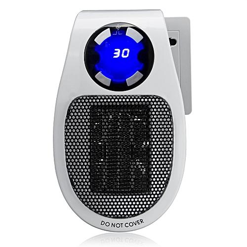 500W Portable Electric Heater Fan Timing Air Warmer Safe Handy Mini Desk Home
