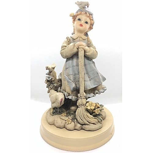 Figurine : Girl With Mop And Birds