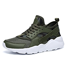 Sports Shoes Lightweight Breathable Cushioning Casual Sneakers - Army Green for sale  Nigeria