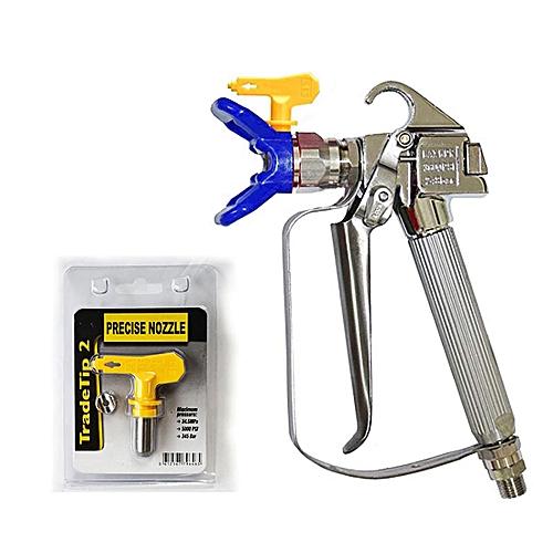 High Pressure Airless Sprayer Spray Gun & Nozzle Holder & Nozzle Set , Paint Sprayer Sprayer Accessories (Blue)