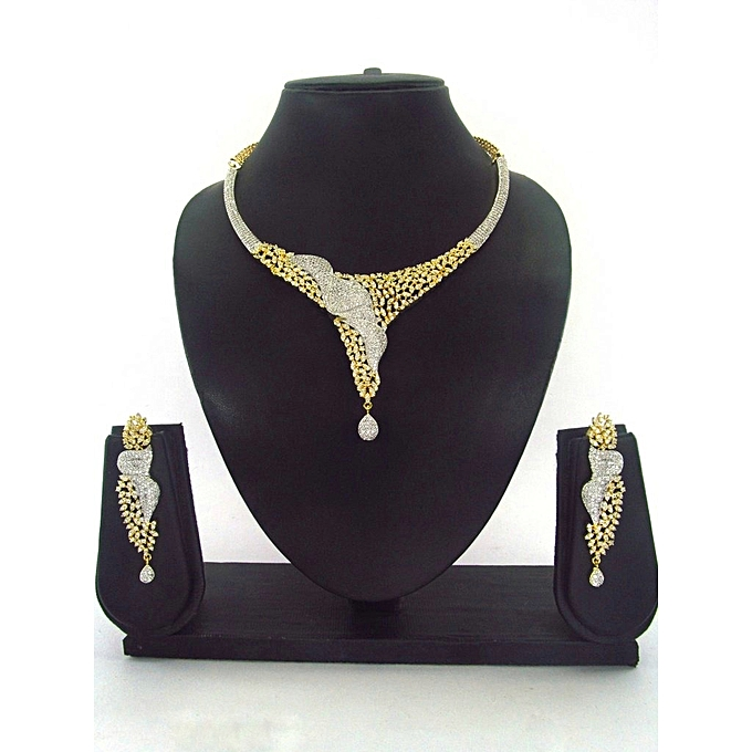 Zirconia American Diamond Jewelry Set