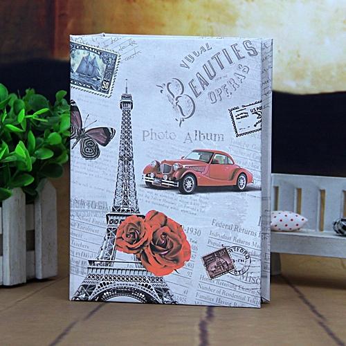 Photo Album 100 Photos Storage Case Family Wedding Memory Picture Film Book Eiffel Tower