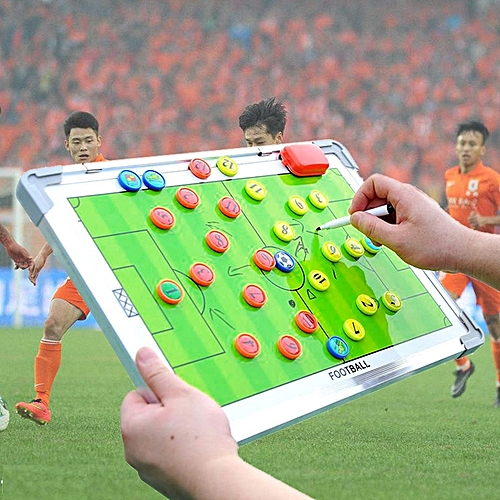 Aluminum Alloy Frame+PVC Double-Sided Magnetic Portable Football Tactical Training Guidance Board
