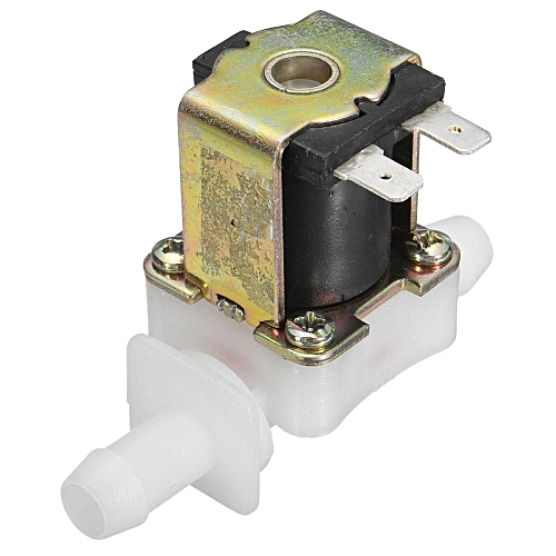 12V 12mm N/C Plastic Electric Solenoid Valve Magnetic Water Air Normally Closed Sliver