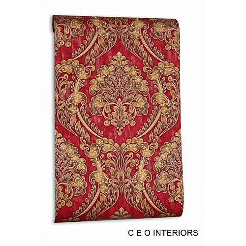 Unique Wallpaper - Red & Goldd