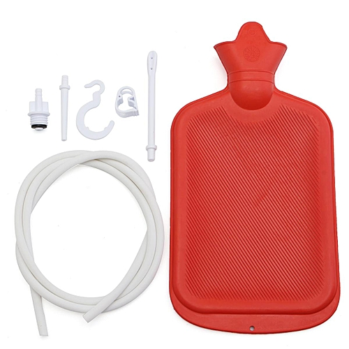 Enema Bag System Kit Hot Water Colonic Irrigation Bowel Tubing + Silicone Hose