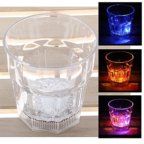 Durable Plastic LED Flashing Cup For Party - Transparent