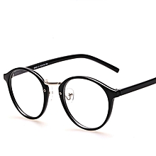 5550a8b650 Black Eyeglasses Frames With Clear Lens Retro Optical Frame Round Vintage Eye  Glasses Frame Spectacle Eyewear