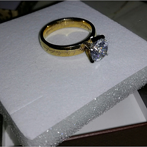 BLiNG Engagement Ring Size 6.5 Inscribed Gold Wedding Female 9kt