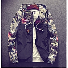 4fb2804bcff662 Men  039 s New Hot Sale  Floral Bomber Jacket Men Hip Hop Slim