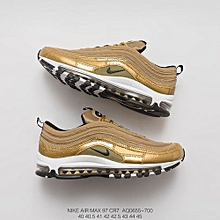 "online store 319b1 fe774 2018 Air Max 97 CR7 ""Golden Patchwork"" Cristiano Ronaldo AQ0655-700 Unisex  Sneaker"