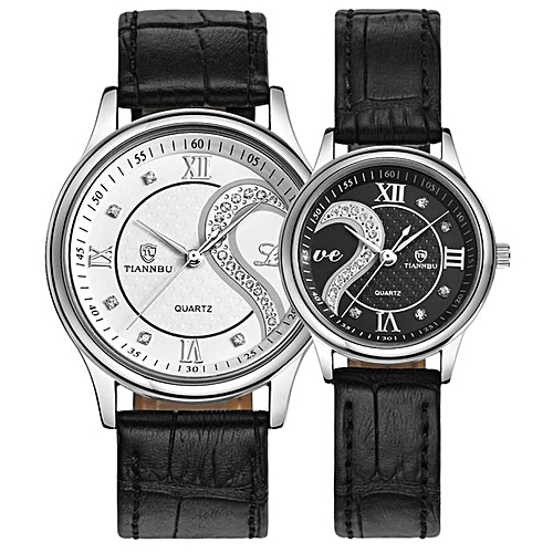 Fashion Herkiller 1 Pair Tiannbu Ultrathin Leather Romantic Fashion Couple Wrist Watches-AS Show