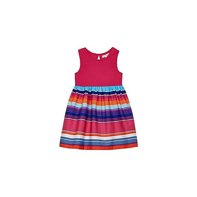 da544e012 Bluezoo BZ Kids Girls  Multi-Coloured Striped Skirt Dress
