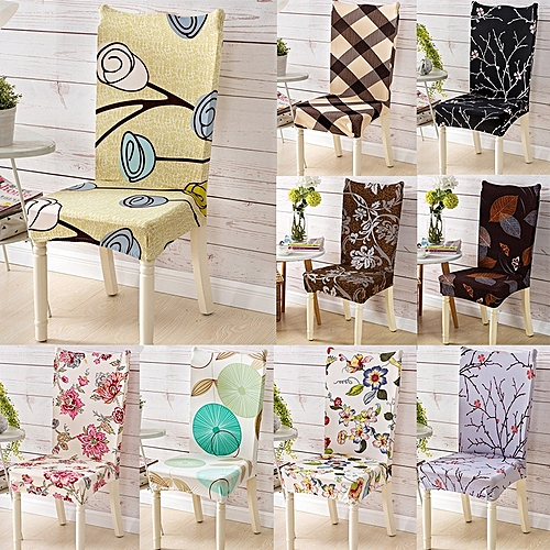 Home Living Kitchen Dining Decor Flowers Elastic Removable Washable Armless Seat Slipcover Protector Party Chair Covers