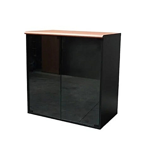 Low Height Cabinet With Sliding Glass Door