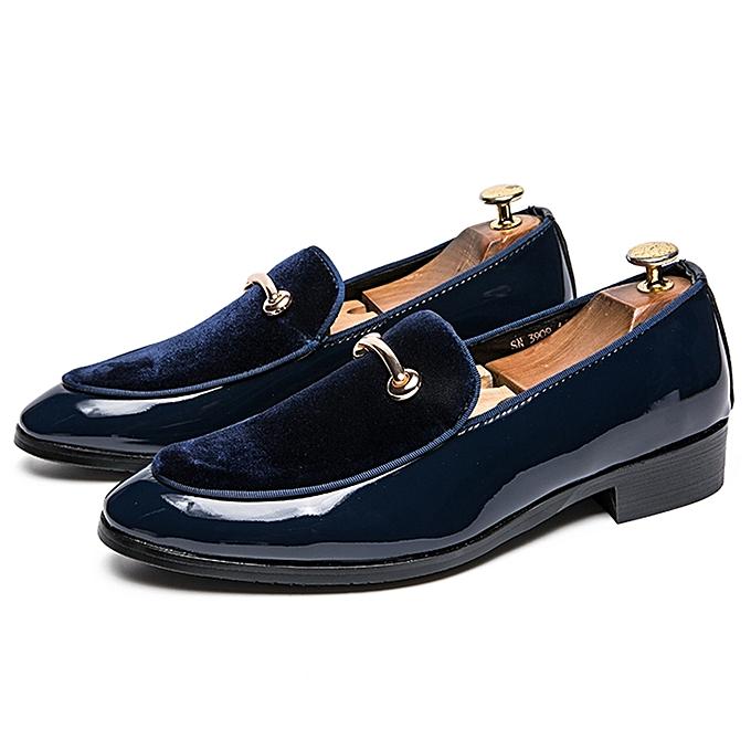 487902b450e6b EUR 38-48 Men Shoes Luxury Handmade Velvet Loafers Shoes Men Fashion Gold  Metal Design