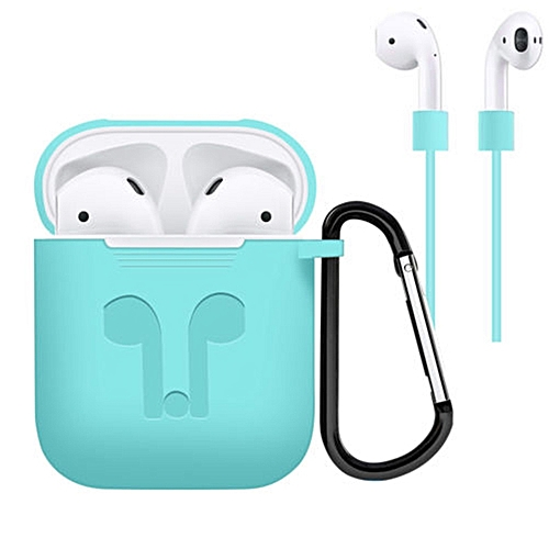 Headphone Silicone Protective Case Cover For Airpod Earphone Accessories Color Mint Green Style