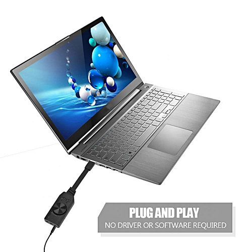 PLEXTONE External Sound Card 7.1 CH Volume Control USB To Earphone Headphone 3.5mm USB Adapter Audio Card For Laptop Computer Gaming Sound Card