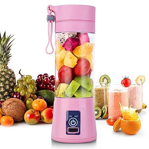 Rechargeable Fruit Blender & Smoothie Maker- Pink