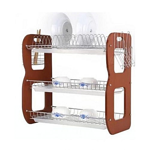 Dish Rack With Water Extractor Tray - 3 Steps