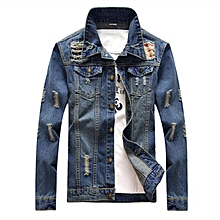 Cargo Pants Men's Clothing Honey 2019 New Hip Hop Denim Jacket Set Fashion Mens Autumn Slim Denim Jacket Retro Motorcycle Tooling Jumpsuit M--xxl