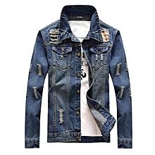 32d7ababa Men Denim Jeans Jacket Jackets Coat Slim Fit Fashion