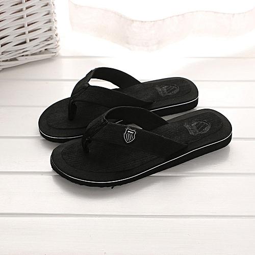 Jiahsyc Store Men's Summer Flip-flops Slippers Beach Sandals Indoor&Outdoor Casual Shoes-Black
