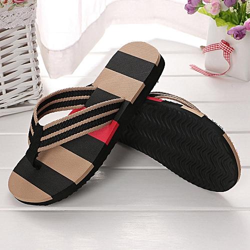 Jiahsyc Store Men Summer Shoes Mixed Colors Sandals Male Slipper Indoor Or Outdoor Flip Flops-Black