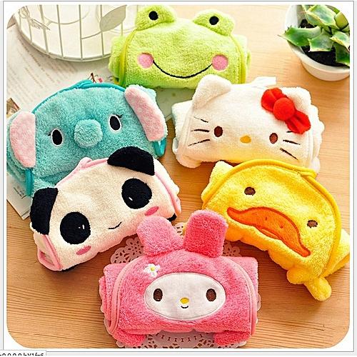 Nursery Hand Towel Soft Plush Fabric Cartoon Animal Hanging Wipe Bathing Towel