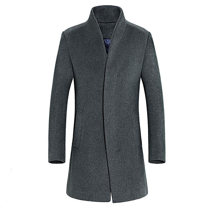 ac114f9b1a36 Noble Men's Jacket Warm Winter Trench Long Outwear Button Smart Overcoat  Coats