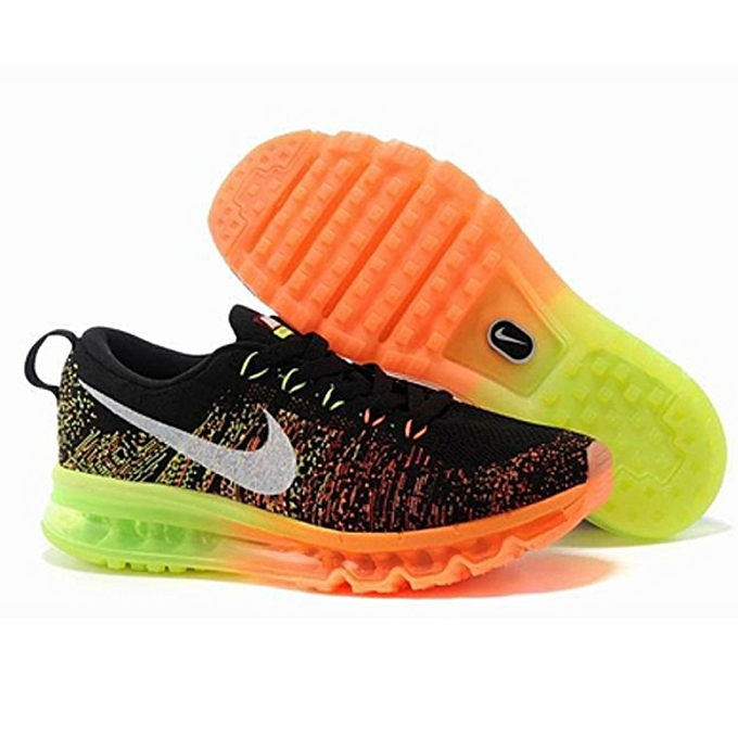 the best attitude c0785 23a25 Flyknit Max Men s Running Shoes - Black   Sail   Atomic Orange   Volt