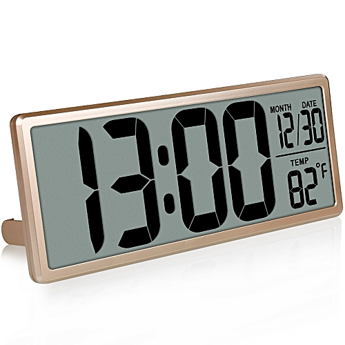 "TXL 13.8"" Large Digital Wall Clock Jumbo Digital Alarm Clock Oversized LCD Display Alarm Snooze Cale"