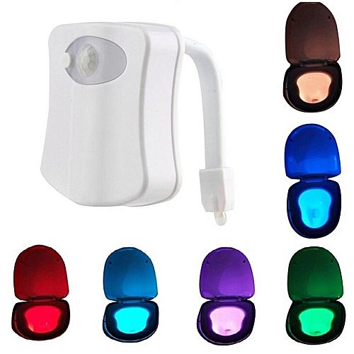 Toilet Seat Sensor Light Bathroom LED Nightlight Lamp