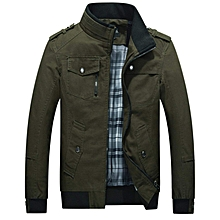 07a6f261a70 Men  039 s Autumn And Fall Stand Colllar Outerwear Jacket Coat