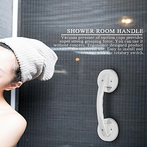 Bathroom Shower Room Anti-slip Handrail Grab Tub Shower Bar With Super Strong Suction Cup
