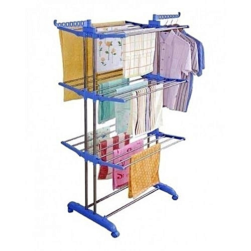 3 Layer Rollable Cloth Hanger Rack For Baby Kid's Adult Cloth -