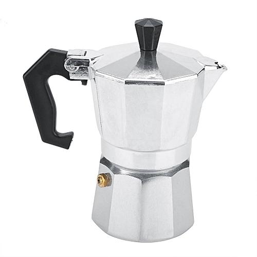 Aluminum Italian Type Moka Pot Espresso Coffee Maker Stove Home Office Use