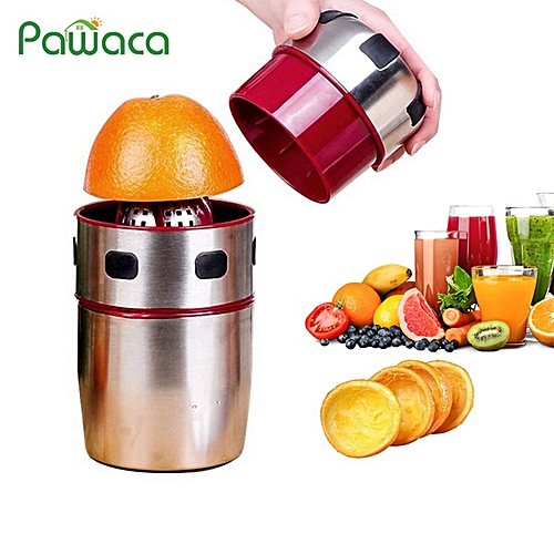 Stainless Steel Hand Juicer Citrus Orange Squeezer Manual Lid Rotation Press Reamer For Oranges, Lemons, Tangerines, Grapefruits