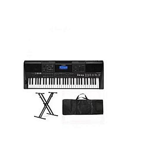 Yamaha PSR E463 Keyboard With Keyboard Stand,Adapter & Bag