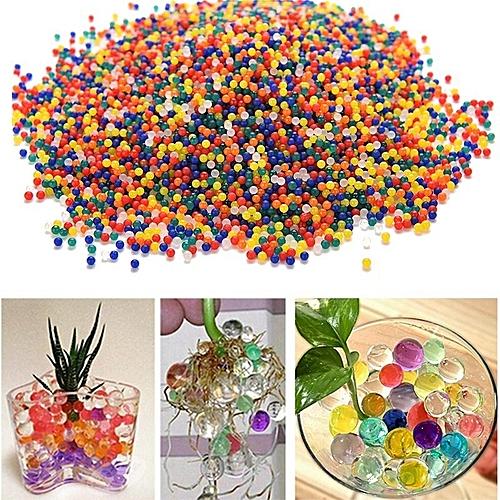 10000PCS/Bag Pearl Shaped Crystal Soil Magic Growing Jelly Balls Hydrogel Gel Polymer Decorations