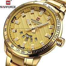e8bd3cabc5c Luxury Brand Men Stainless Steel Gold Watch Men  039 s Quartz Clock Man  Sports