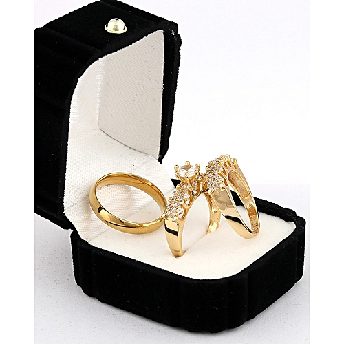 6ac37776ee807 Cillia Gold Wedding Ring Set