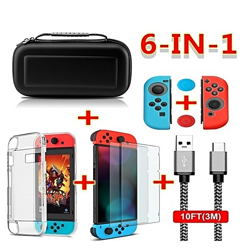 Portable 8 In 1 Travel Bag Screen Protector Accessories Case For Nintendo Switch