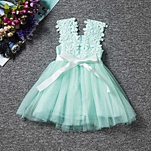 094ac899466c Baby Girls Lace Tulle Flower Gown Fancy Dress Dridesmaid Summer Girl Dress