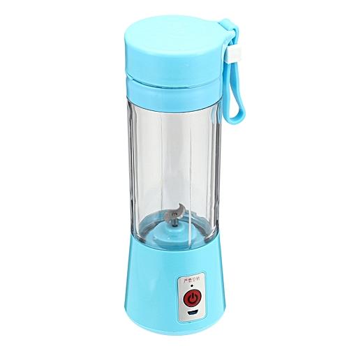 Portable 380ml Electric Juice Blender Bottle Safety Juicer Cup Multi-functional Blue