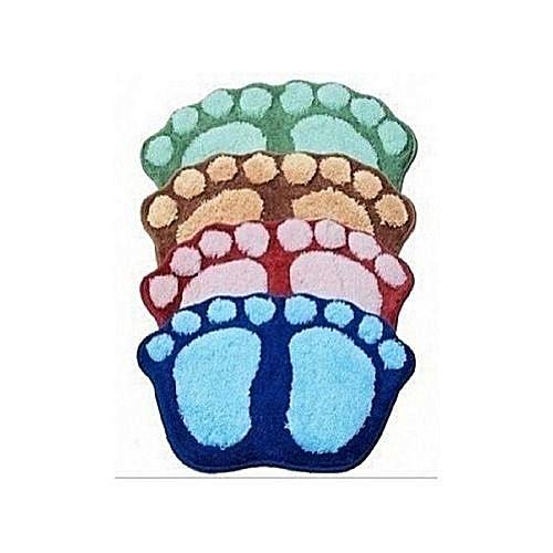 Universal 4 Sets Of Fluffy Bath Foot Mat - Multicolour