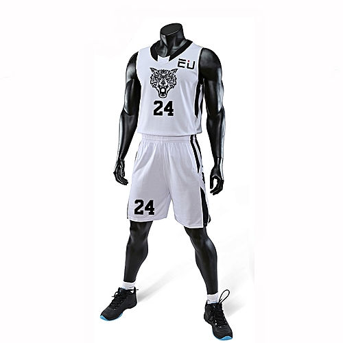 Eufy Best Sale Customized Casual Men's Basketball Team Sport Jersey Uniform-White(3035)